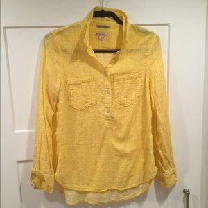 Sunny Yellow Cotton Popover Top